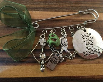 Walking Dead Inspired Zombie Kilt Pin Brooch