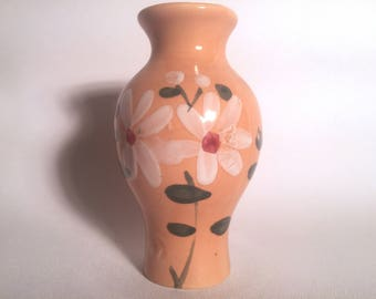 Small Orange Bud Vase