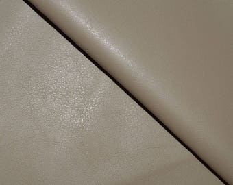 Faux Leather Stretchy taupe - taupe Faux Leather fabric (in multiples of 20cm *)