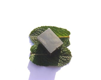 Raw pyrite: 1.9 cm x 2 cm x 1.5 cm rectangular stone
