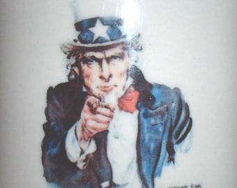 "US Army James Montgomery Flagg ""I Want YOU for US Army"" ceramic coffee mug"