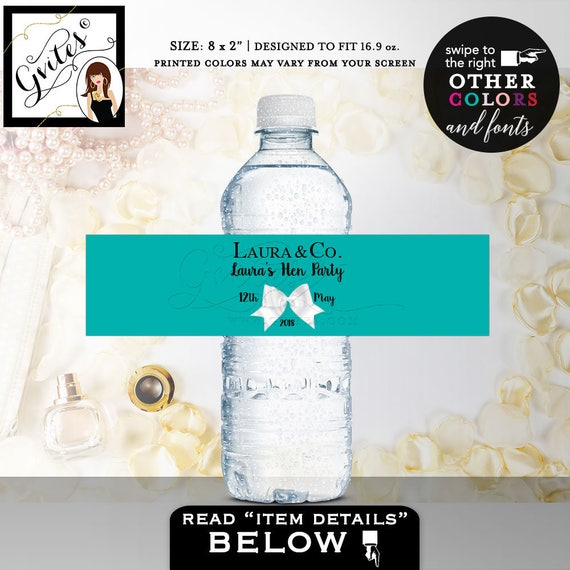 Hens Party Water Bottle Labels Bachelorette Water Label Bridal - Bachelorette water bottle label template