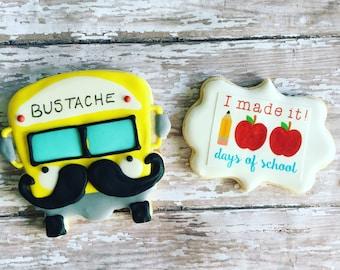 1 box with 2 sugar cookies / teacher appreciation week