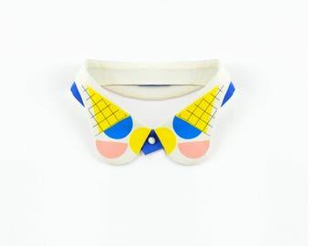 Taste of Joy / Detachable Hand-printed Collar / Illustration Emil Wikström / Classic spread-collar necklace