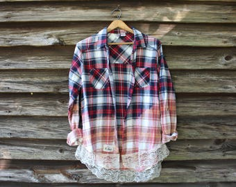 Distressed Flannel Etsy