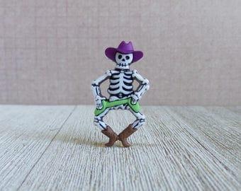 Cowboy Skeleton - Costume - Halloween - Bones - Skull - Skeleton - Lapel Pin