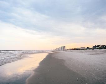 Summer Sunset Myrtle Beach Photography, South Carolina - East Coast Carolinas Coastal Pastel Wall Art Home Decor Fine Art Print