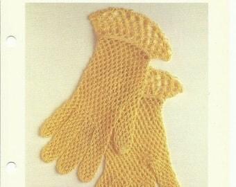 Retrocon Sale - Beautiful lace gloves crochet pattern digital download solmon's knot stitch