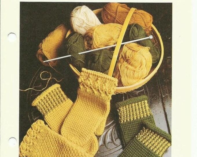 Retrocon Sale - Afghan / Tunisian Crochet mittens pattern digital pattern download