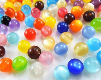 Beads 10 X mix color 7mm round