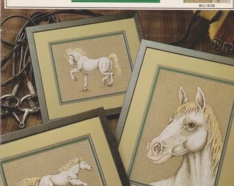 Cross Stitch Pattern booklet Great White Horse True Colors BCL 10128 by Gary D Hanner