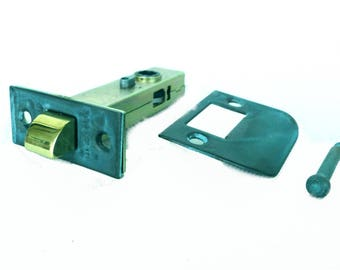 "Tiffany Green Finish Latch Set for Door Hardware 2 3/8"" back set w solid brass face plate"