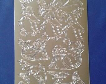 Starform gold stickers sea animals 830 gg