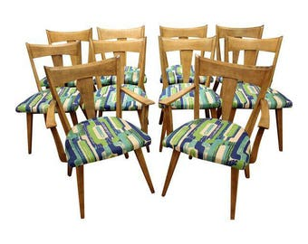 Mid-Century Modern Dining Chairs Heywood Wakefield Cadence Sable Chairs-Set of 10