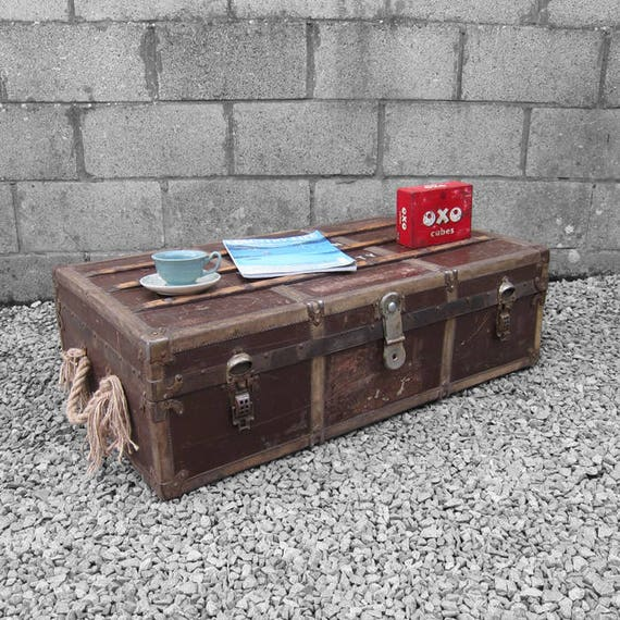 Vintage Travel Trunk 1940s Coffee Table Macmillan