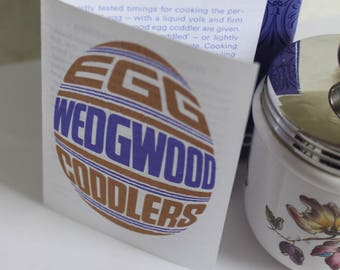 Egg Coddler Swallow Pattern by Wedgwood of Great Britain. In original gift box and cooking instructions.