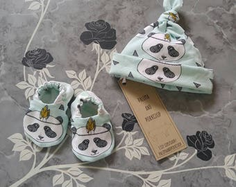 Welcome Home Newborn Set - 2pc - Minty Fresh Panda