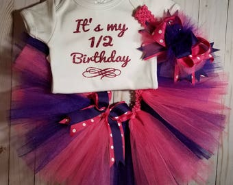1/2 Birthday Tutu and Onesie Set