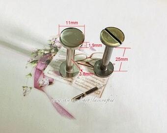 10 Sets 11x25mm Anti brass Brushed Brass Silvery copper screws rivets Chicago screw/ Concho screw