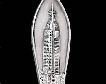 Rare Sterling Silver Demitasse Spoon New York City with the Empire State Building