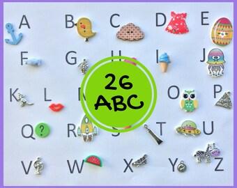 ABC 26 Objetos para abecedario - serie 3