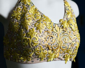 Golden Lace Lyrical Dance Top
