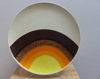 Large Mid Century Mikasa 'Indian Feast Half Moon Stoneware Serving Platter