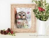 Weathered Winter Owl