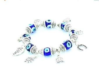 ON SALE Evil Eye Beads Bracelet