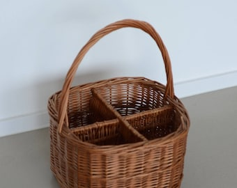 Vintage French wicker basket