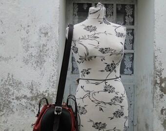 """Shoulder bag - bag """"Flor"""" 100% leather and hand-made"""