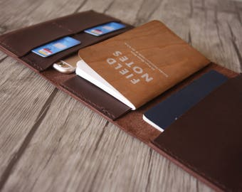 Leather Passport Case, Notebook Covers, iPhone 8 Case, Travelmate Leather Portfolio, Field Notes Sleeve, Leather Wallet Small Moleskine