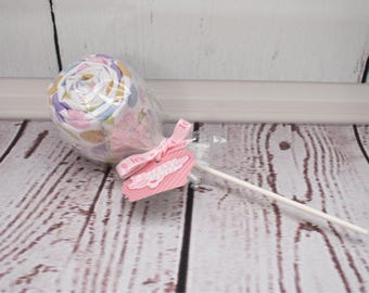 Baby lollipops baby blanket lollipop unique baby shower decorations new parent gift baby girl gift baby girl shower decoration table decor