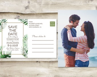 Island Save The Date Postcard, Destination Save the Date,  Tropical Save the Date, Photograph Save the Date, Santa Barbara Wedding Postcard