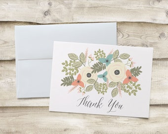 Wedding Thank You Cards, Wedding Thank You Note Cards, Bridal Shower Thank You Cards, Bridal Shower Thank You Note Cards, Wedding Shower