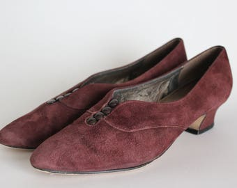 Vintage Plum Naturalizer Kitten Heels