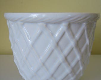 Haeger Basket Weave Planter Pot
