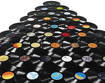 "Vintage Vinyl records lot of 5  12"" for arts, crafts"
