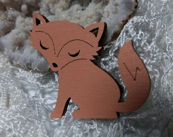 Fox as a brooch