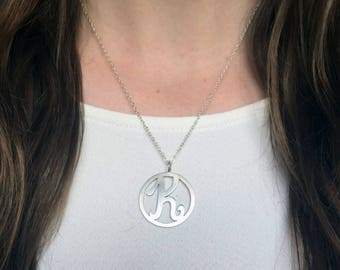 Initial Necklace, Sterling Silver