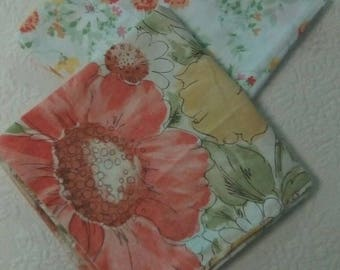 Vintage Mix and Match 2 king Pillowcases retro floral bed linens bedding