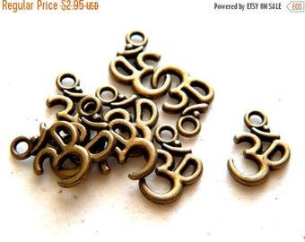 HALF PRICE 10 Small Bronze Om Charms