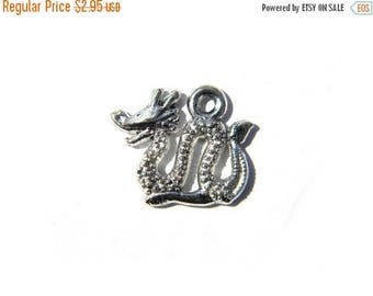 HALF PRICE 6 Silver Chinese Dragon Charms