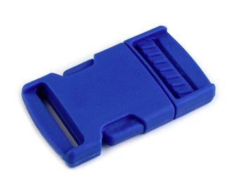 4 clip strap 25 mm bright blue