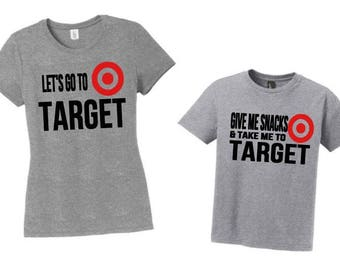 Mommy and Me Target Shirts, Mommy Daughter Shirt Set, Mommy And Me Set, Mommy Son Shirts, Mother's Day Gift, Funny Target shirts, Target tee