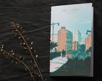 SEA LEVEL / hand bound travel sketchbook zine / 48 pp color + bw artist book / urban sketching, new york, architecture