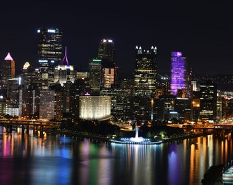 Pittsburgh Nighttime Beauty Print