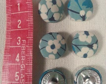 Set of 6 16mm fabric covered buttons to choose personalised