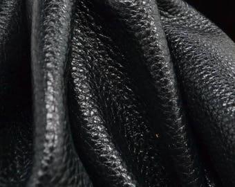 "Black Jack Metallic ""Vegas"" Leather Cow Hide 8"" x 10"" Pre-Cut  3 ounces grainy TA-51942 (Sec. 8,Shelf 4,A)"