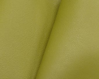 "Gallant Olive Green ""Signature""  Leather Cow Hide 4"" x 6"" Pre-cut 2-3 oz  flat grain DE-61627 (Sec. 8,Shelf 6,C,Box 1)"